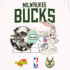 Diamond x Space Jam Milwaukee Bucks Tee - White