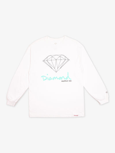 OG Sign Long Sleeve Tee - White