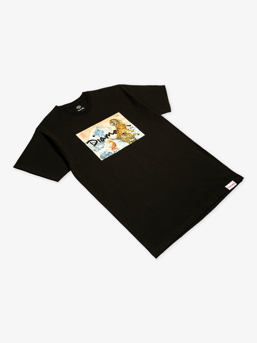 Tiger Wave Tee - Black