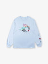 Dopey Long Sleeve Tee - Light Blue