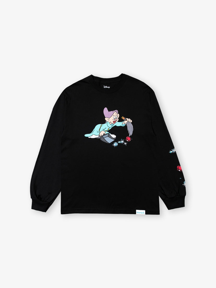 Dopey Long Sleeve Tee - Black