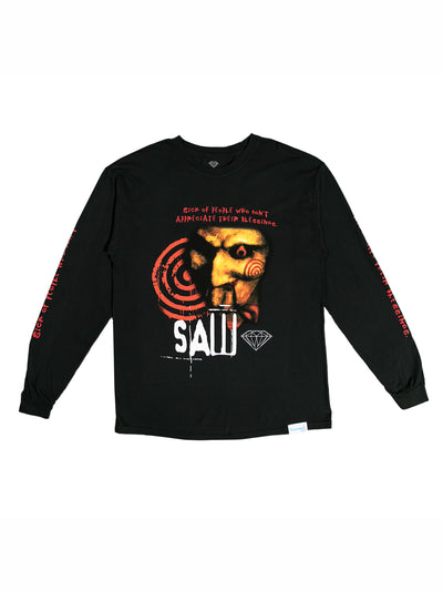 SAW Blessings Dye Long Sleeve Tee - Black