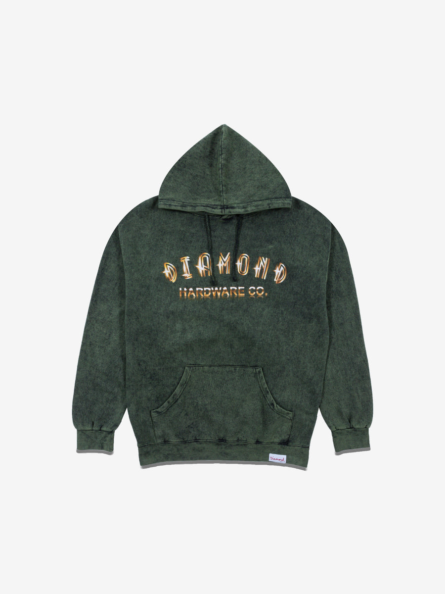 Gold Skull Hoodie - Green Crystal Wash, Fall 2019 -  Diamond Supply Co.