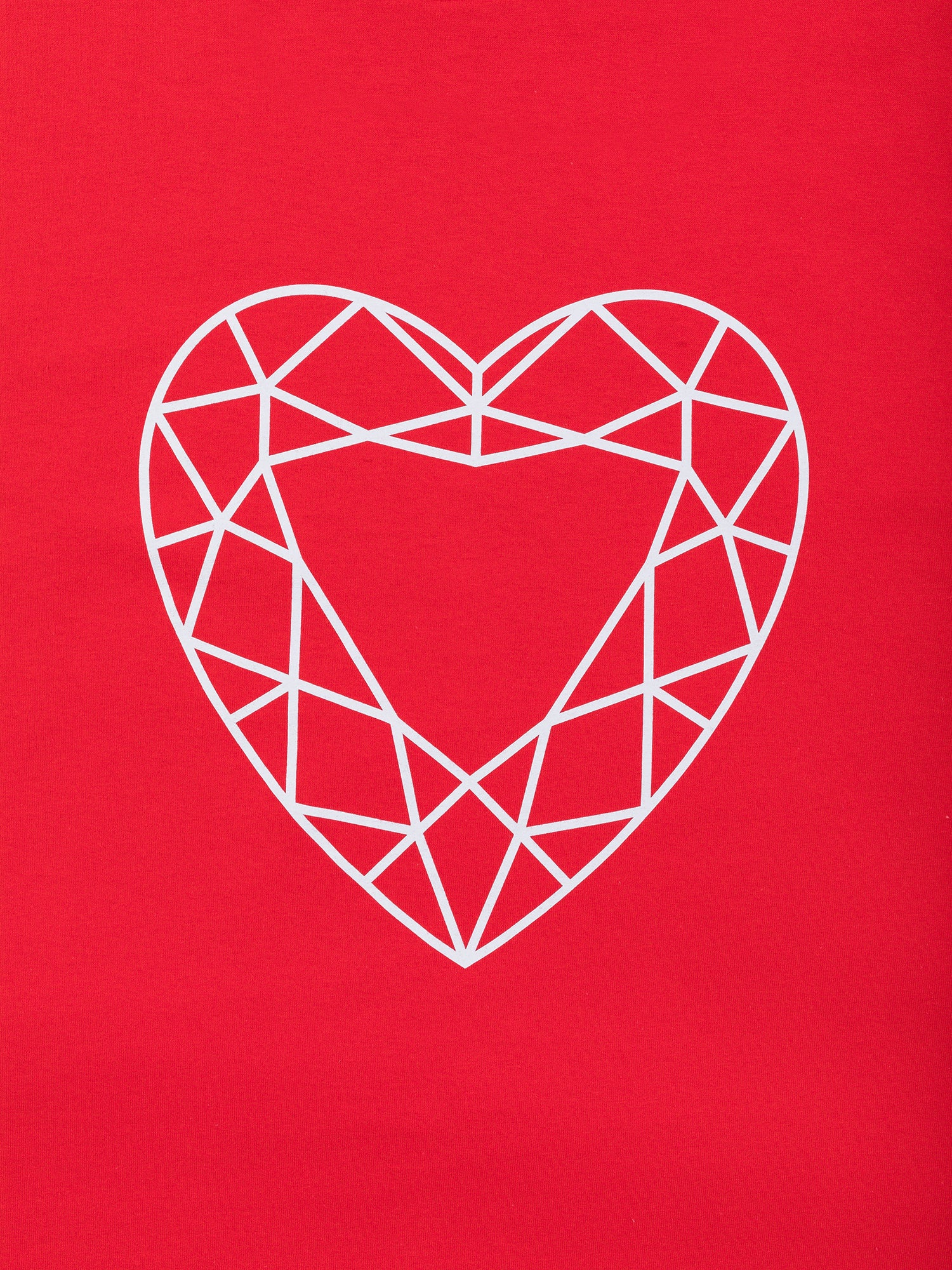 Heart Cut Tee - Red