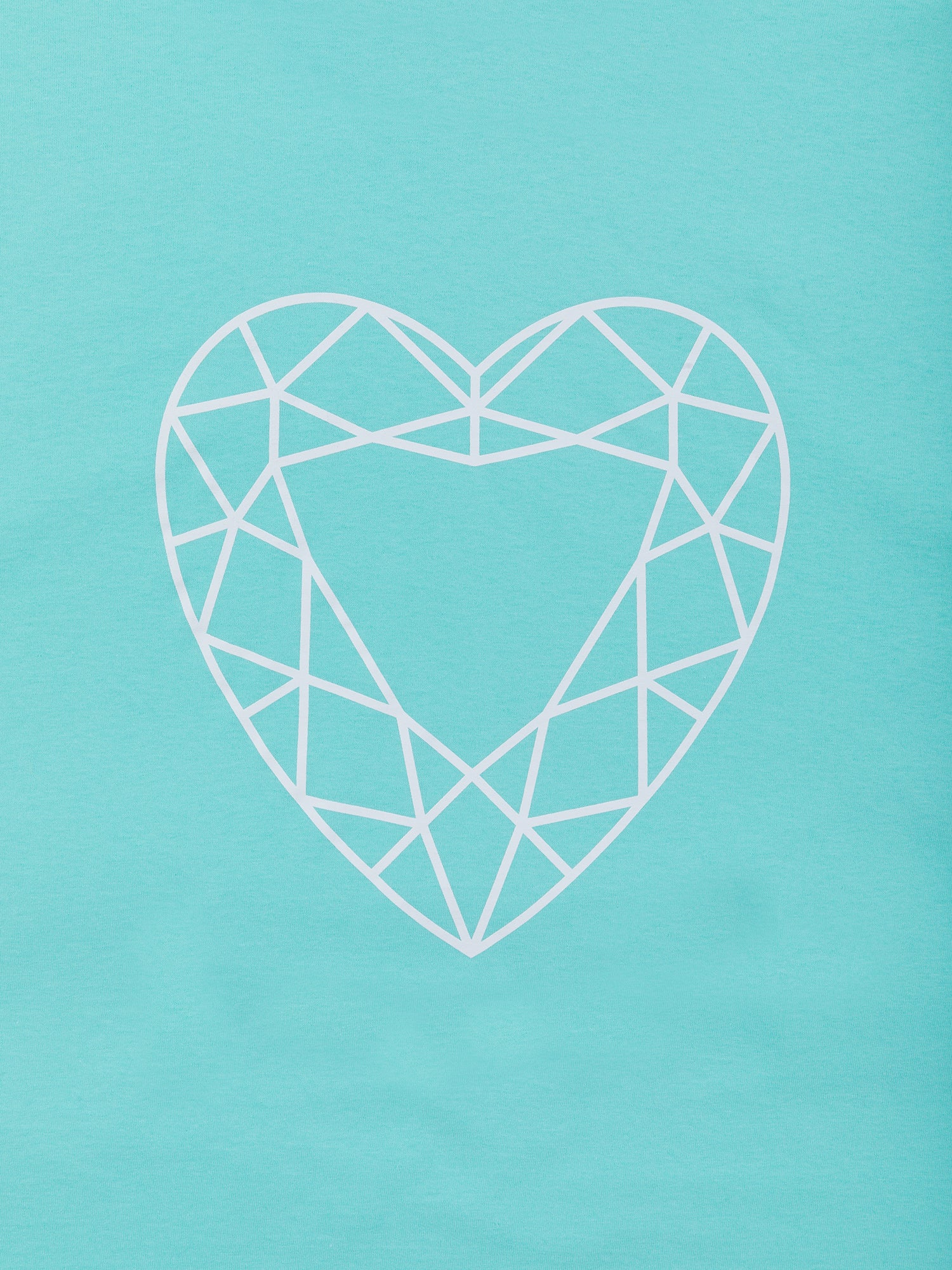 Heart Cut Tee - Diamond Blue