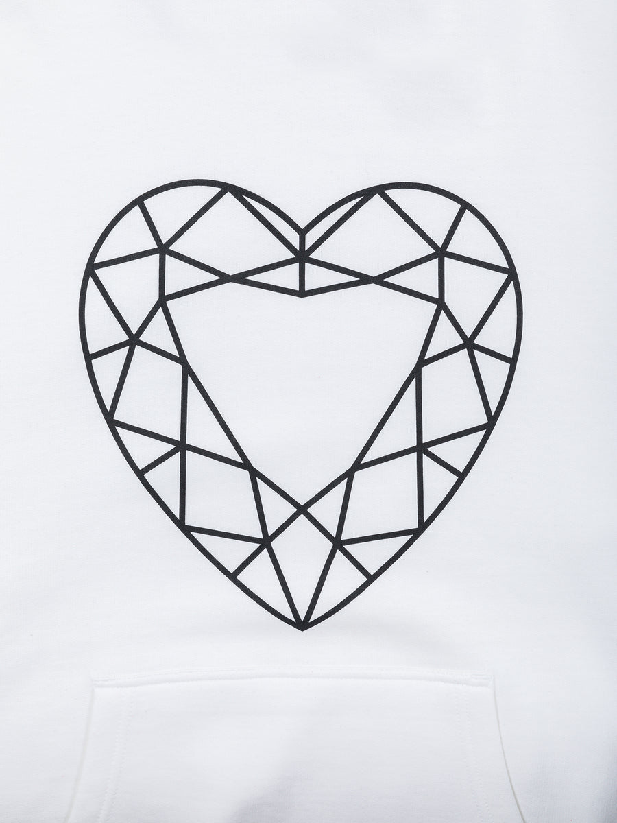 Heart Cut Hoodie - White, Fall 2019 -  Diamond Supply Co.