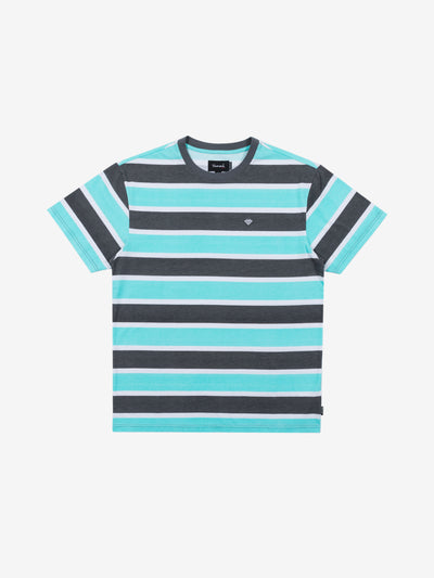 Hard Cut Striped Tee - Grey