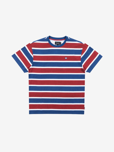Hard Cut Striped Tee - Navy, Fall 2019 -  Diamond Supply Co.