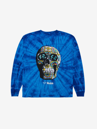 Diamond x Modelo Calavera Long Sleeve - Tie Dye, Modelo -  Diamond Supply Co.