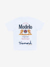 Diamond x Modelo Especial Tee - White, Modelo -  Diamond Supply Co.