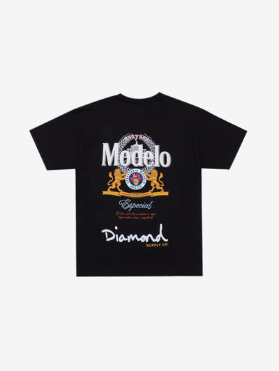 Diamond x Modelo Especial Tee - Black, Modelo -  Diamond Supply Co.