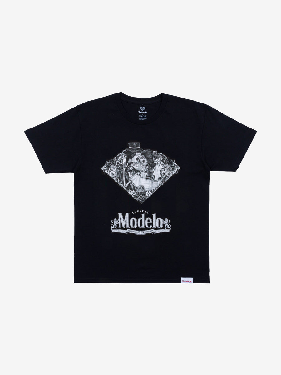Diamond x Modelo Dia De Los Muertos Tee - Black, Modelo -  Diamond Supply Co.
