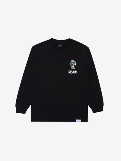 Diamond x Modelo Calavera Long Sleeve - Black, Modelo -  Diamond Supply Co.