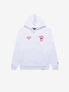 Diamond x Ali Fight Hoodie - White