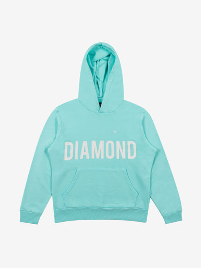 Brilliant Overdyed Oversized Hoodie - Diamond Blue