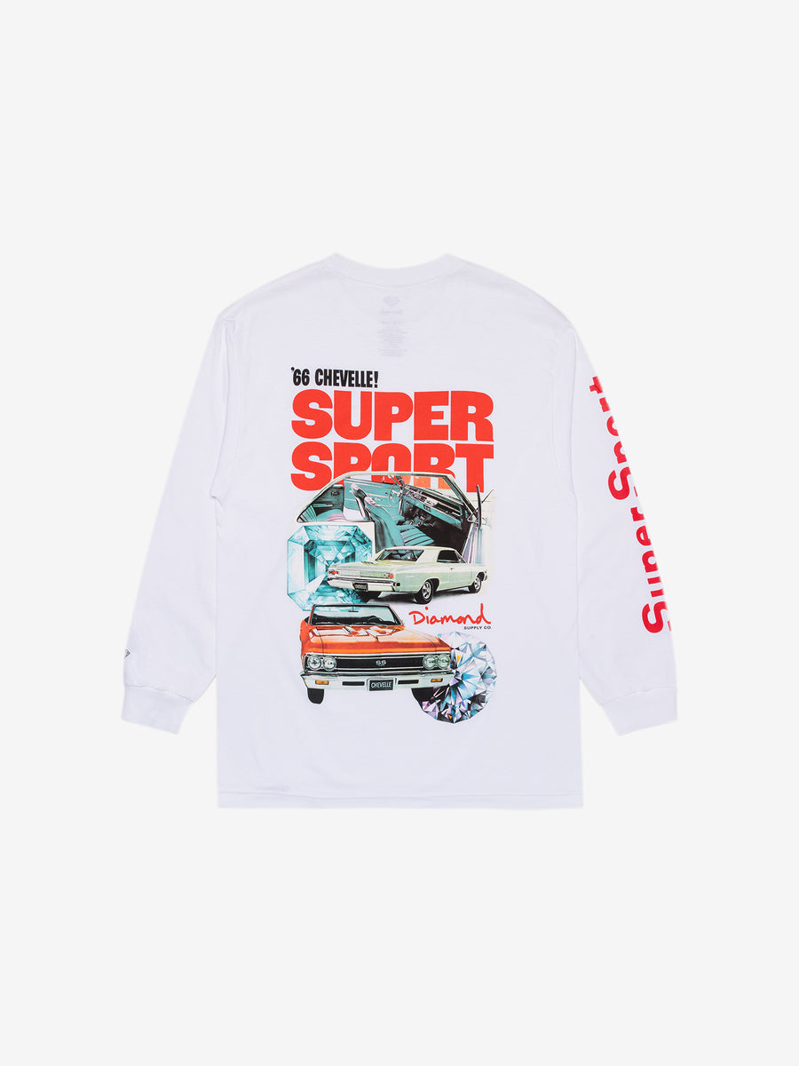 Diamond x Chevelle Super Sport Longsleeve Tee - White
