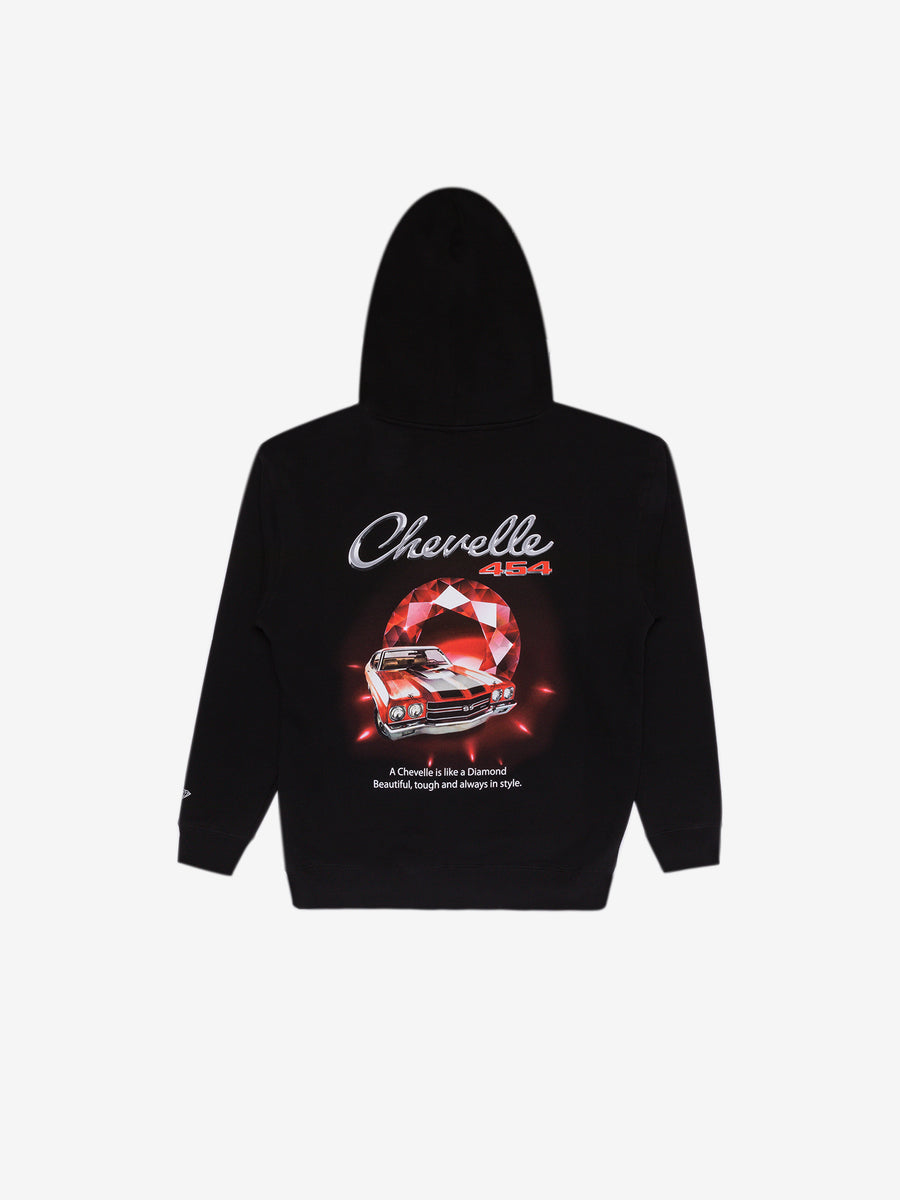 Diamond x Chevelle Cranberry Red Hoodie - Black