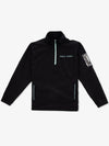 Utility Quarter Zip Jacket - Black