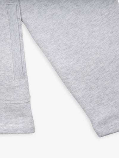 Collegiate Mock Neck Jacket - Heather Grey