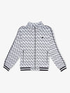 Monogram Mock Neck Jacket - Heather Grey