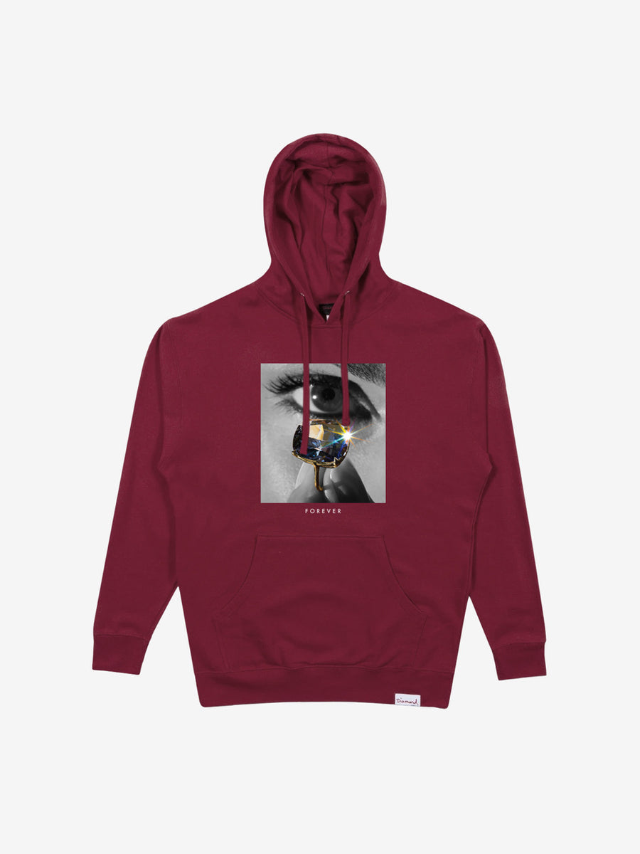 Eye Diamond Hoodie - Burgundy