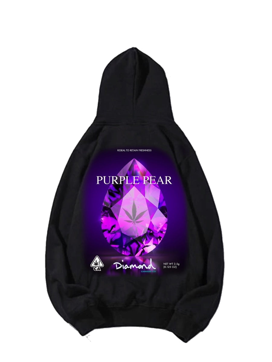 Purple Pear Hoodie - Black