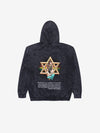 Diamond Star of David Mineral Wash Hoodie - Black