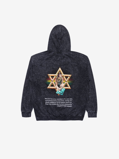 Diamond Star of David Mineral Wash Hoodie - Black, Holiday 2019 -  Diamond Supply Co.
