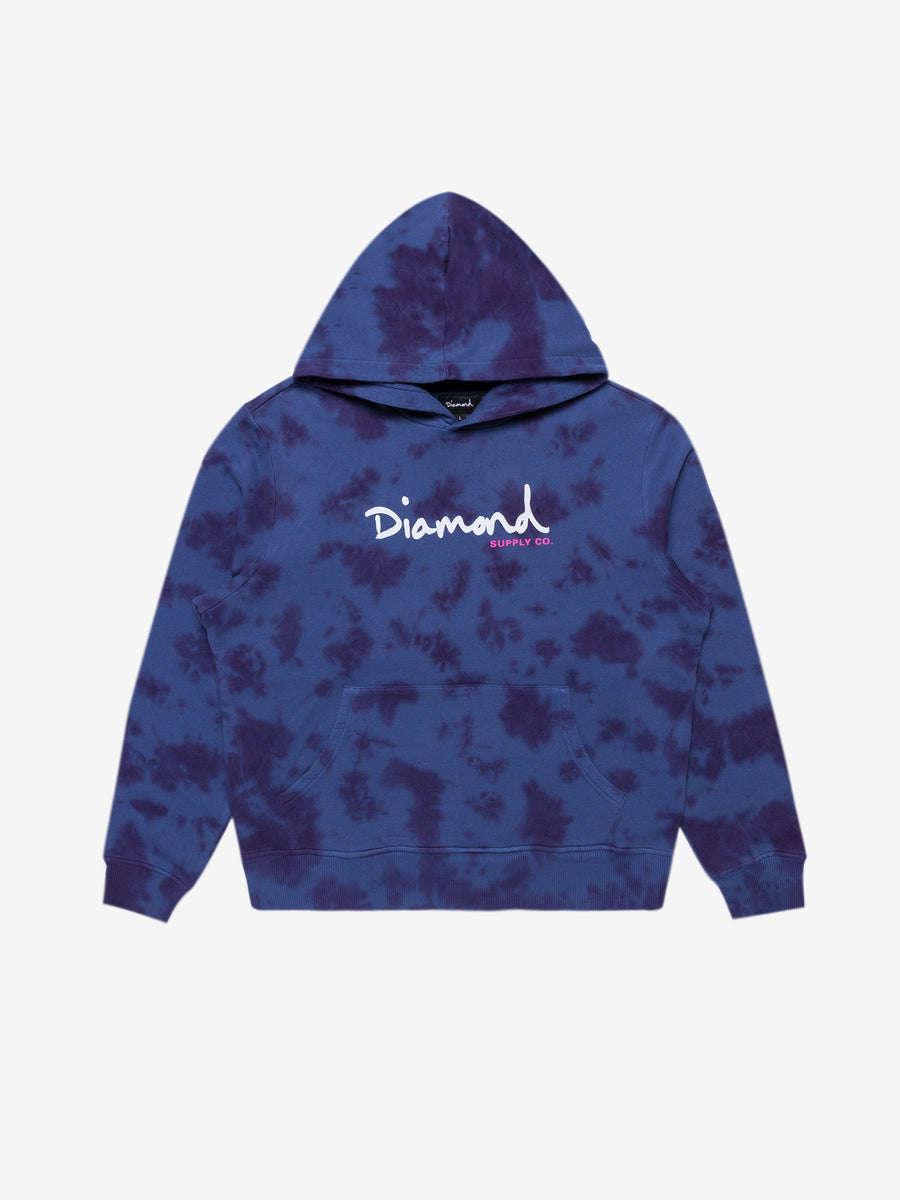 Diamond Washed Overdyed Hoodie - Navy