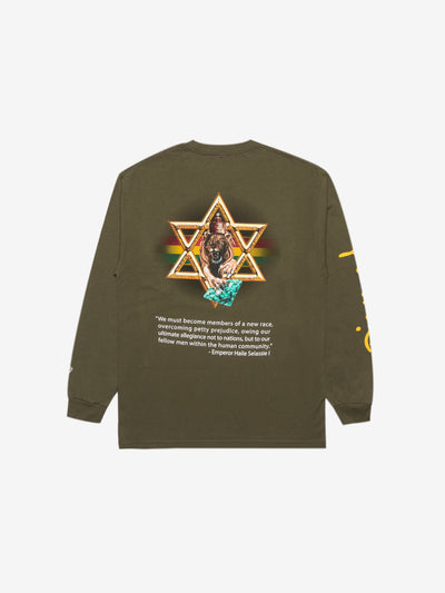 Diamond Star Of David Longsleeve - Army Green, Holiday 2019 -  Diamond Supply Co.