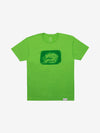 Diamond Etching Print Tee - Lime