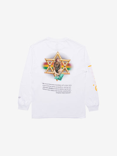 Diamond Star Of David Longsleeve - White, Holiday 2019 -  Diamond Supply Co.
