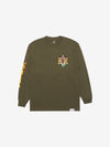 Diamond Star Of David Longsleeve - Army Green