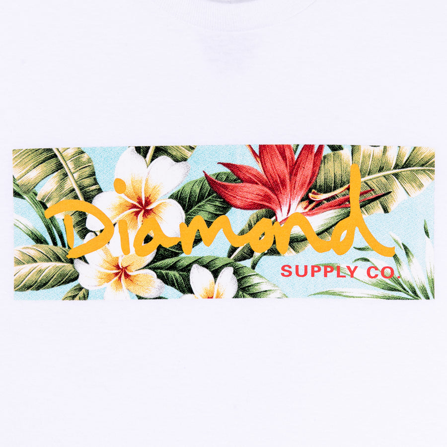 Diamond x Jungle Gurl Box Logo Tee - White