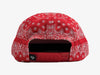 Brilliant Bandana Unstructured Snapback - Red