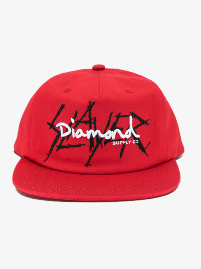 The Hundreds - Diamond x Slayer Snapback - Red