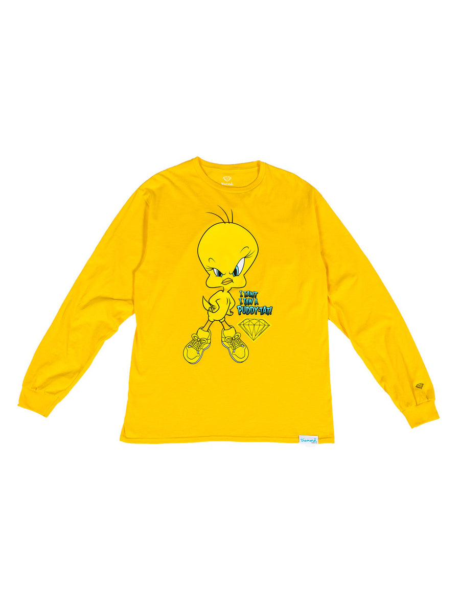 Diamond x Looney Tunes Puddy-Tat Long Sleeve - Yellow