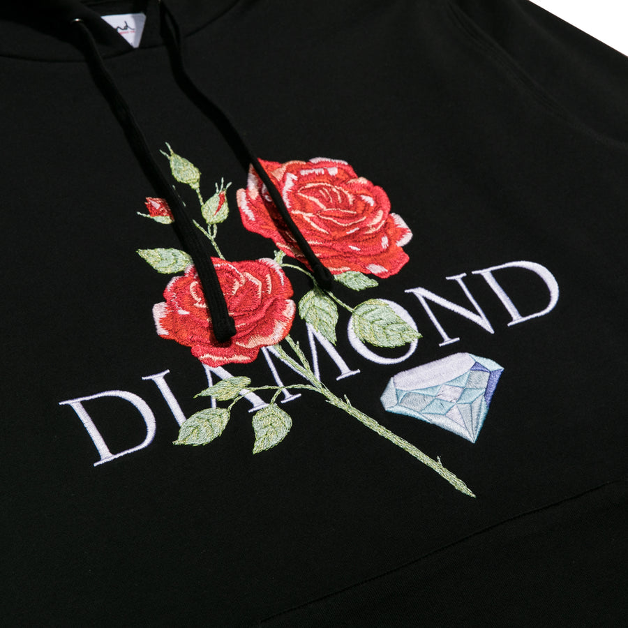 Red Rose Hoodie - Black