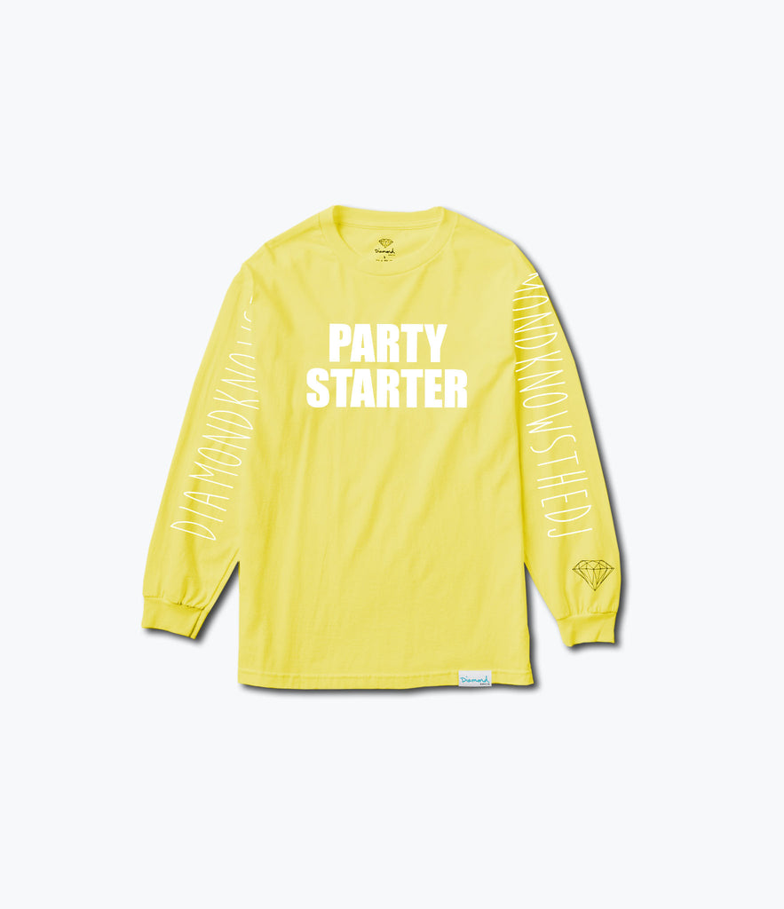 Party Starter Longsleeve Tee, Limited Additions -  Diamond Supply Co.