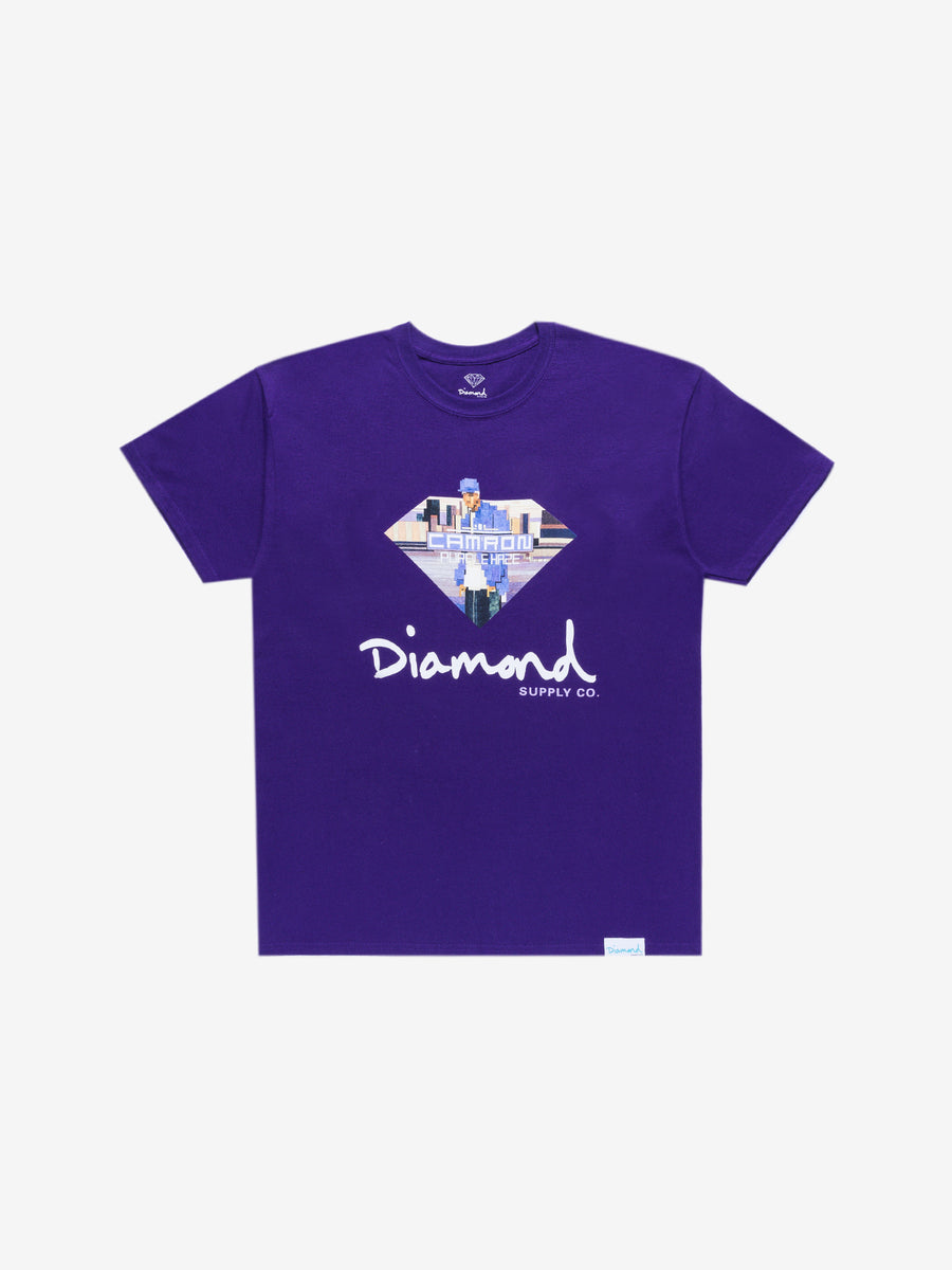Diamond x Cam'ron Sign Tee - Purple, Camron -  Diamond Supply Co.