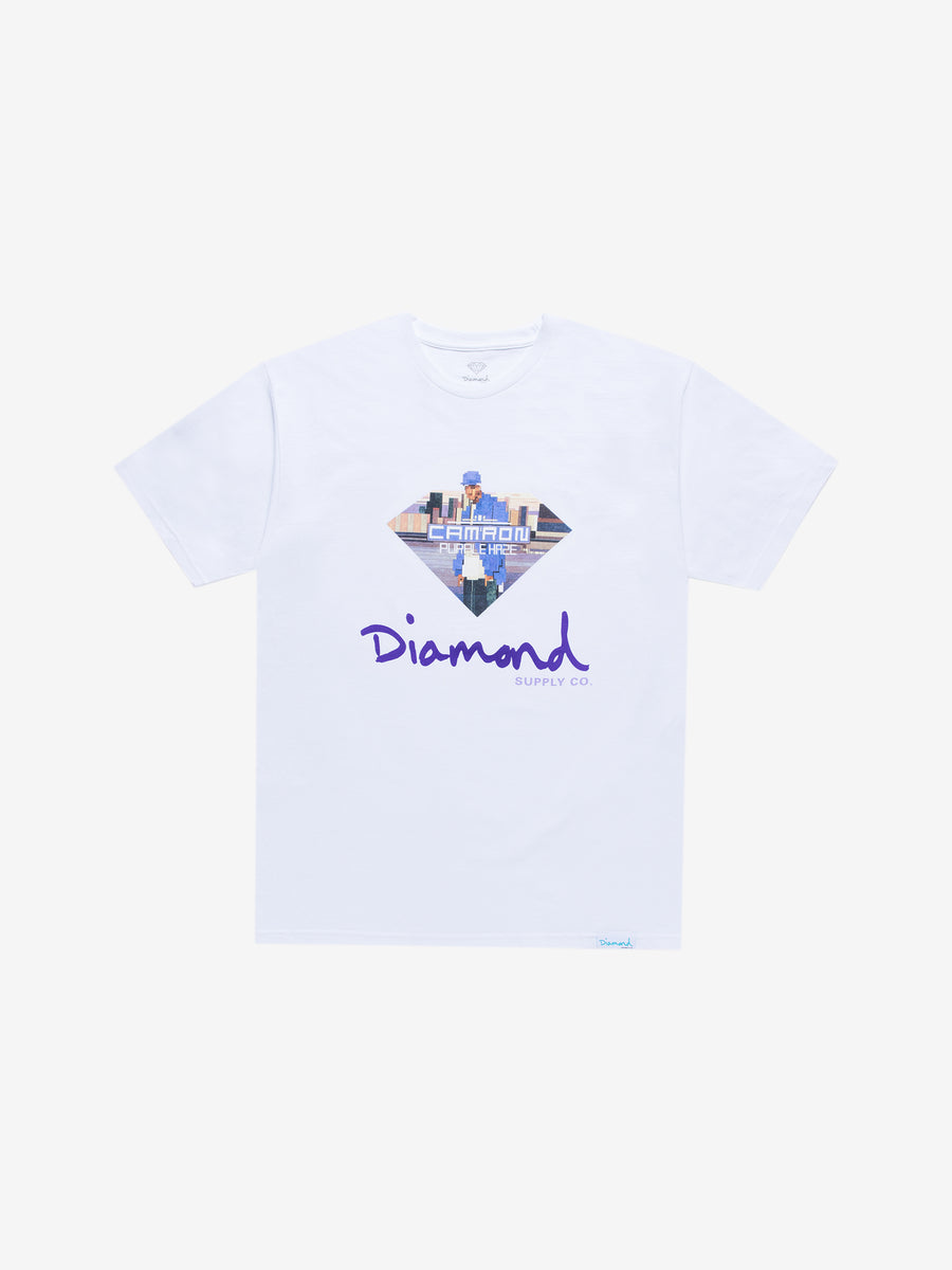 Diamond x Cam'ron Sign Tee - White, Camron -  Diamond Supply Co.