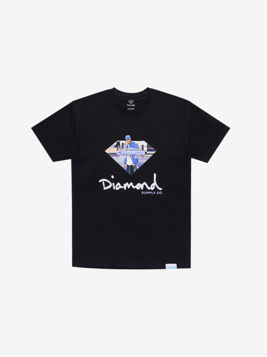 Diamond x Cam'ron Sign Tee - Black, Camron -  Diamond Supply Co.