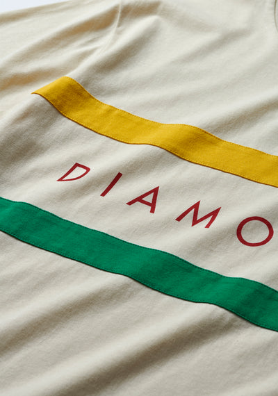 Diamond Panel Tee - Cream