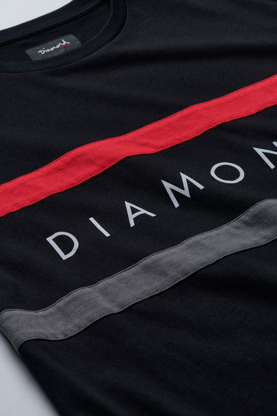 Diamond Panel Tee - Black