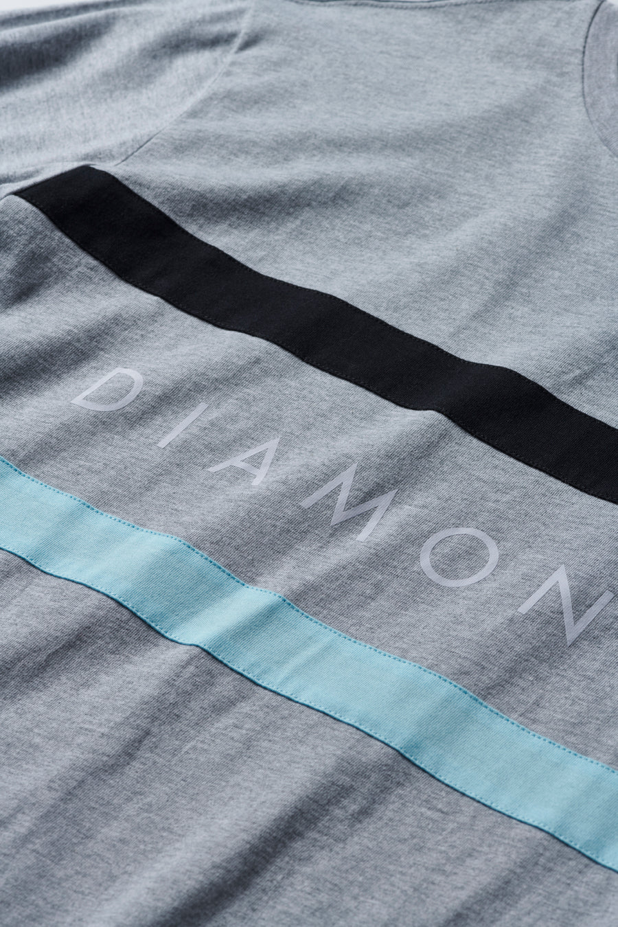 Diamond Panel Tee - Grey