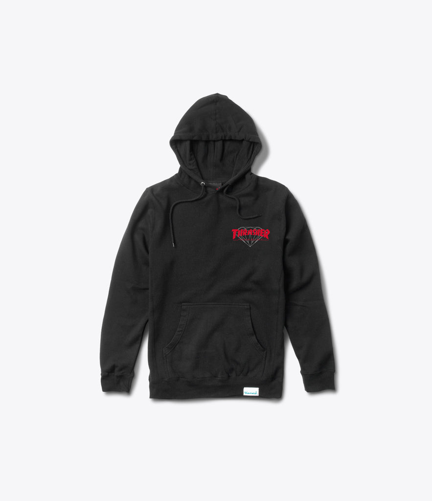 Diamond x Thrasher Hellride Pullover Hood, Limited Additions -  Diamond Supply Co.