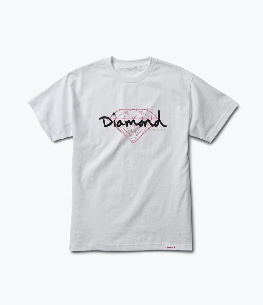 Diamond supply t shirts - Brilliant Script Tee Fall 2017 Delivery 1 Tees Diamond Supply Co