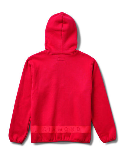 Brilliant Quarter Zip Hoodie - Red