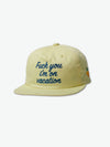 Diamond Resort Strapback Hat - Yellow