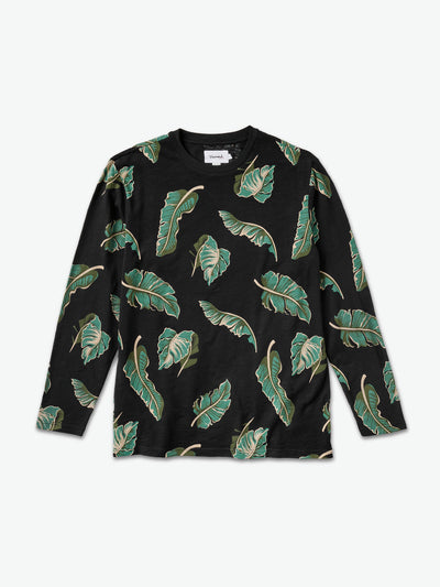 Tropical Paradise Longsleeve Tee - Black